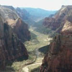 Your reward - you get to look down on Angel's Landing (right foreground)
