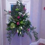 Flowers inside Hotel entrance, smelt beautiful