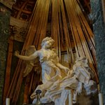 Santa Maria dellla Vittoria by the Hotel - Bernini Statue