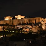View of the Acropolis from the Athens Gate Restaurant