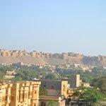 Jolie vue sur la citadelle depuis la terrasse