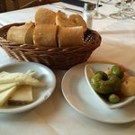 Bread and welcome appetisers