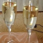 champagne to celebrate as a family