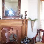 Lovely Antique mantel in sitting room