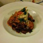 starter (dark pasta - great)