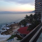 View from balcony - sun going down - floor 6