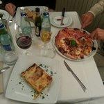 Lasagna e pizza