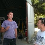 Todd Cassatt and Obsidian Winemaker Mike Wood
