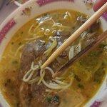 Soupe machin typique vietnamienne (boeuf, citrons). Délicieux!