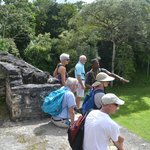 tour group from hotel at ruins