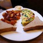 Three-eggs omelette