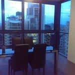 Dining area with fantastic view of Brisbane
