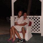 Gazebo no Banana Key de frente para o Golfo do México