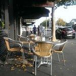 Sidewalk seating at Longroom