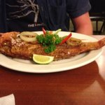 Awesome snapper with Carmen's creole sauce