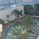 Vista das piscinas -