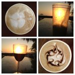 Lattes in the morning and drinks at sunset