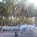 zona de snack en playa el agua