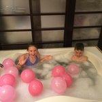 Birthday Bath Surprise!