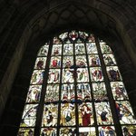 Mediaeval stained glass window