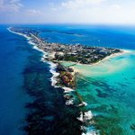 Arial view of Isla Mujeres