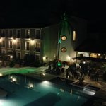 Alberca del hotel Binniguenda.