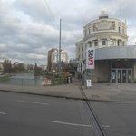 Canal del Danubio frente al edificio Urania