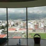 Vista desde el piso más alto de las suites