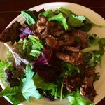 Amazing food -Salad w/Beef and chili-lime dressing!