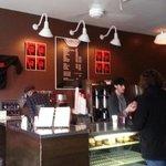 Gorilla Coffee counter where you order your coffee.