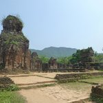 The Cham ruins at My Son -- destination for the day's ride.