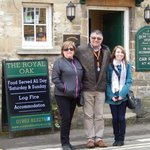 Karen and Jennifer Price outside a Pub in the Cotswolds