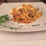 Homemade Tagliatelle Bolognese