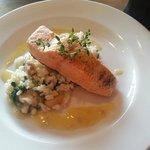 Salmon & garlic risotto was delicious