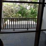le balcon de la chambre