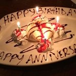Happy Birthday - Happy Anniversary Complimentary Dessert :)