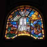 Holy Trinity Cathedral: stained glass window detail