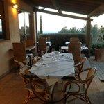 La veranda del ristorante