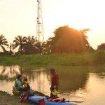 Sunset Kajakfahrt mit den Kindern