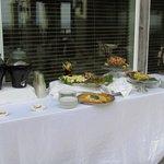 Appetizer table in Tiki Bar area