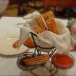 Churros with sauces to share for dessert