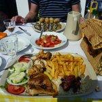BBQ chicken and mackerel