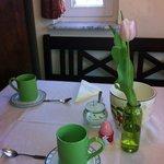 Frühstücksraum im Frühling