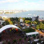View of the Ultra venue and beyond -