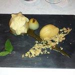 Dessert Poire mousse de caramel
