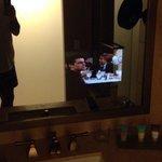 Tv in the bathroom mirror