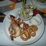 Cava seafood platter for one