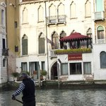 View of the hotel patio across the Grand Canal
