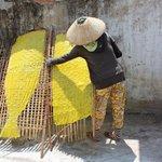 Rice paper making