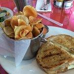 Reuben sandwich with chips